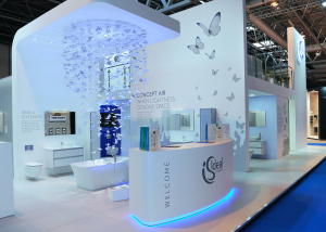 Ford MMP build exhibition stands for Ideal Standard and Sottini